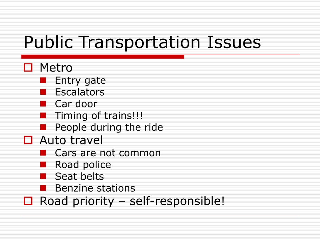 Public Transportation Issues