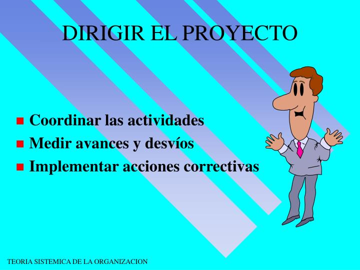 DIRIGIR EL PROYECTO