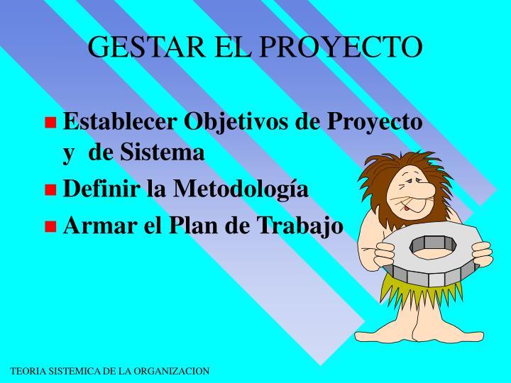 GESTAR EL PROYECTO