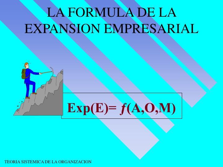 LA FORMULA DE LA EXPANSION EMPRESARIAL
