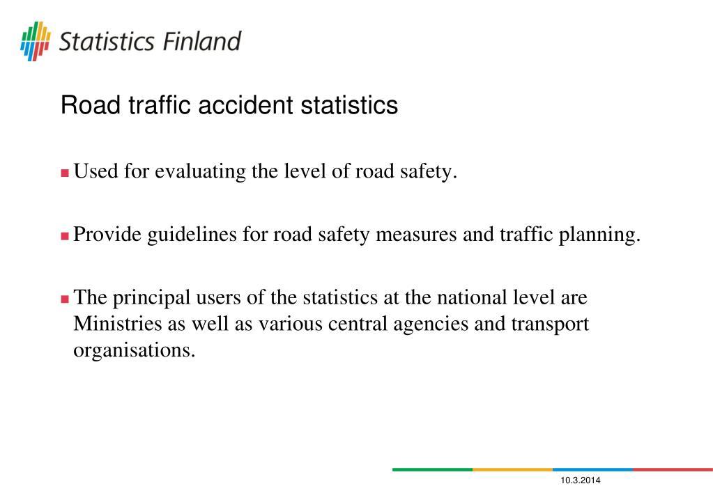 Road traffic accident statistics