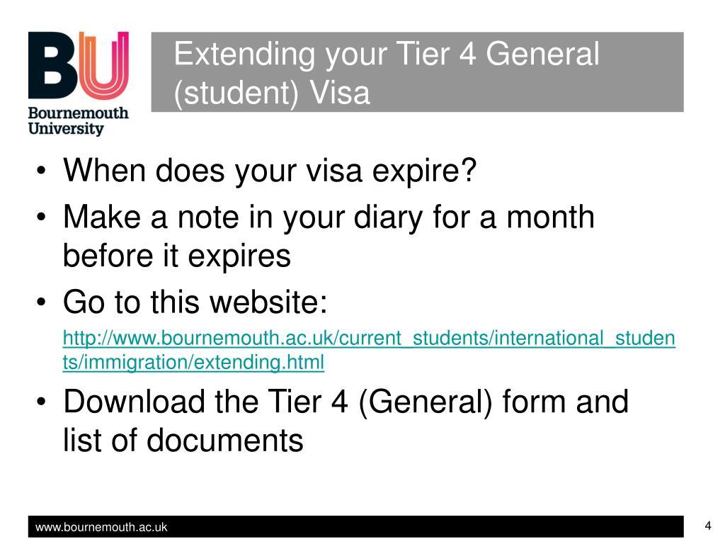 Extending your Tier 4 General (student) Visa