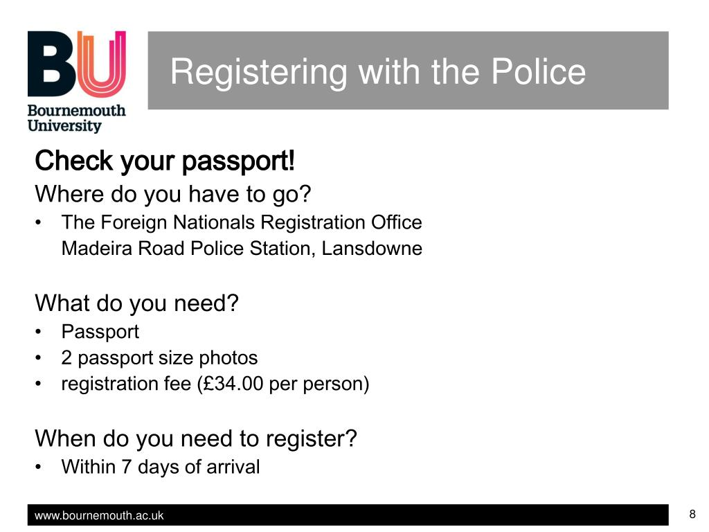 Registering with the Police