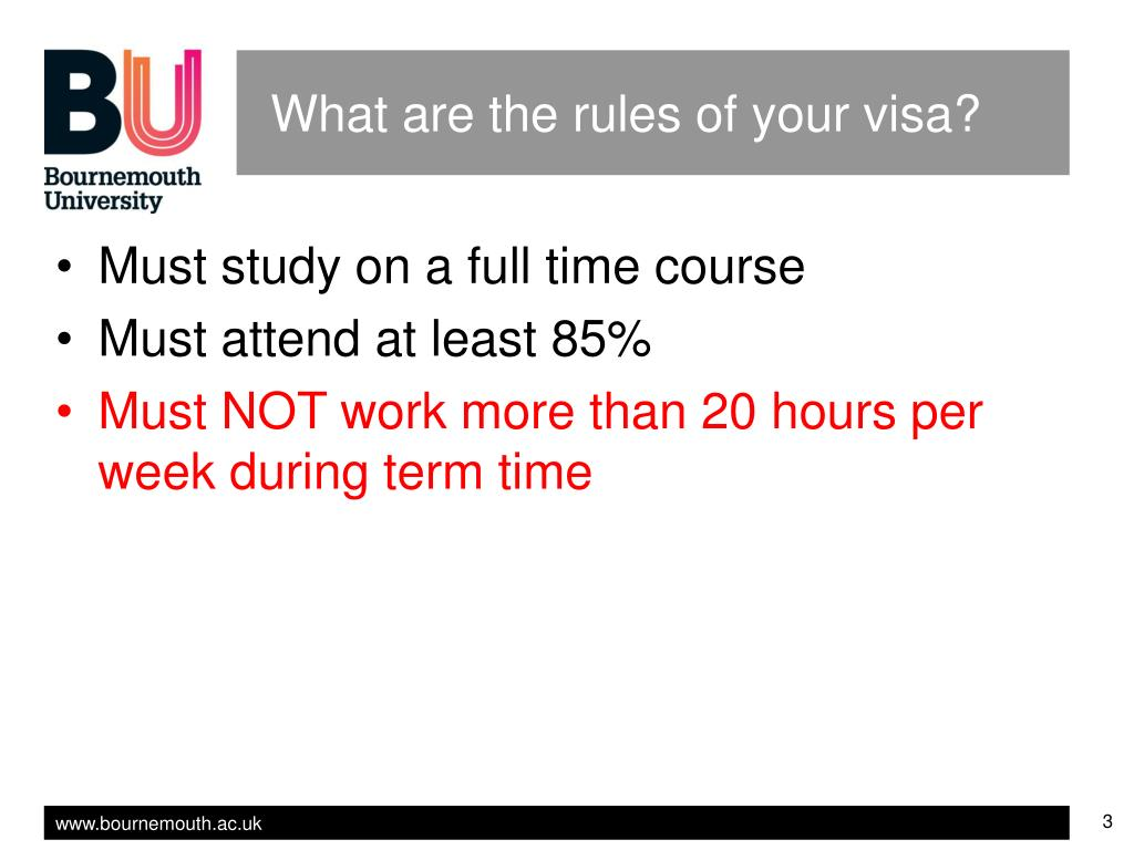 What are the rules of your visa?