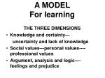 a model for learning
