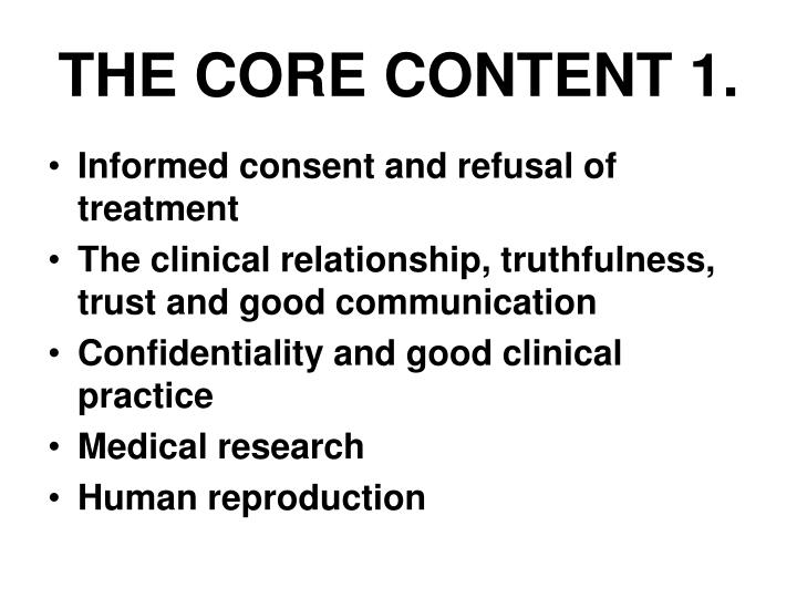 THE CORE CONTENT 1.