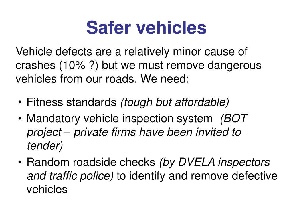 Safer vehicles