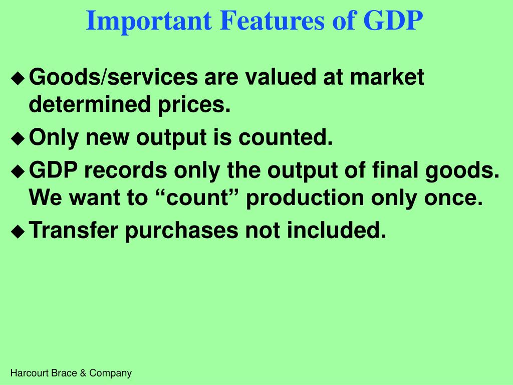 Important Features of GDP