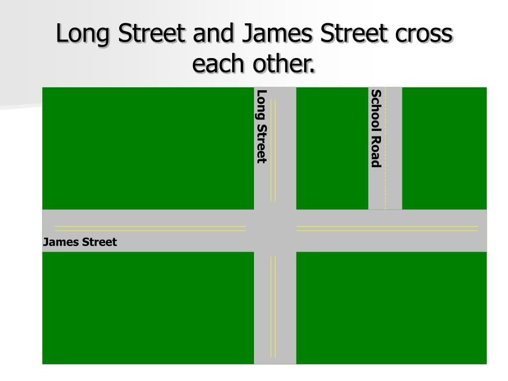 Long Street and James Street cross each other.