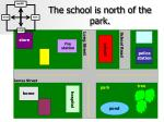 the school is north of the park