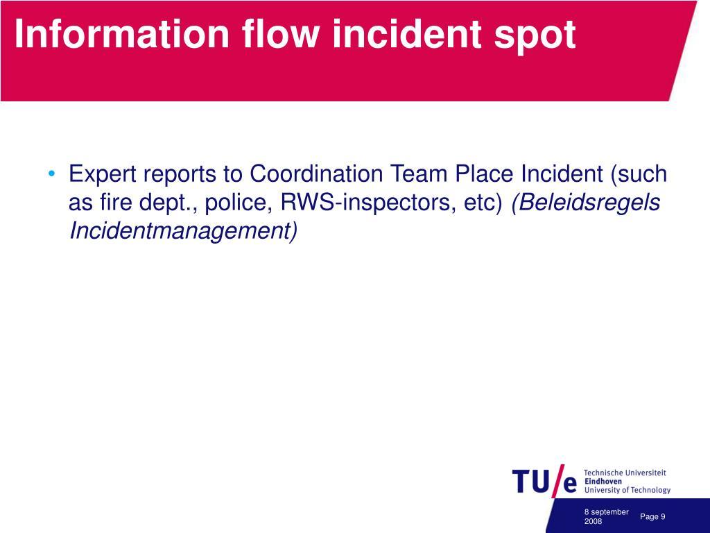 Information flow incident spot