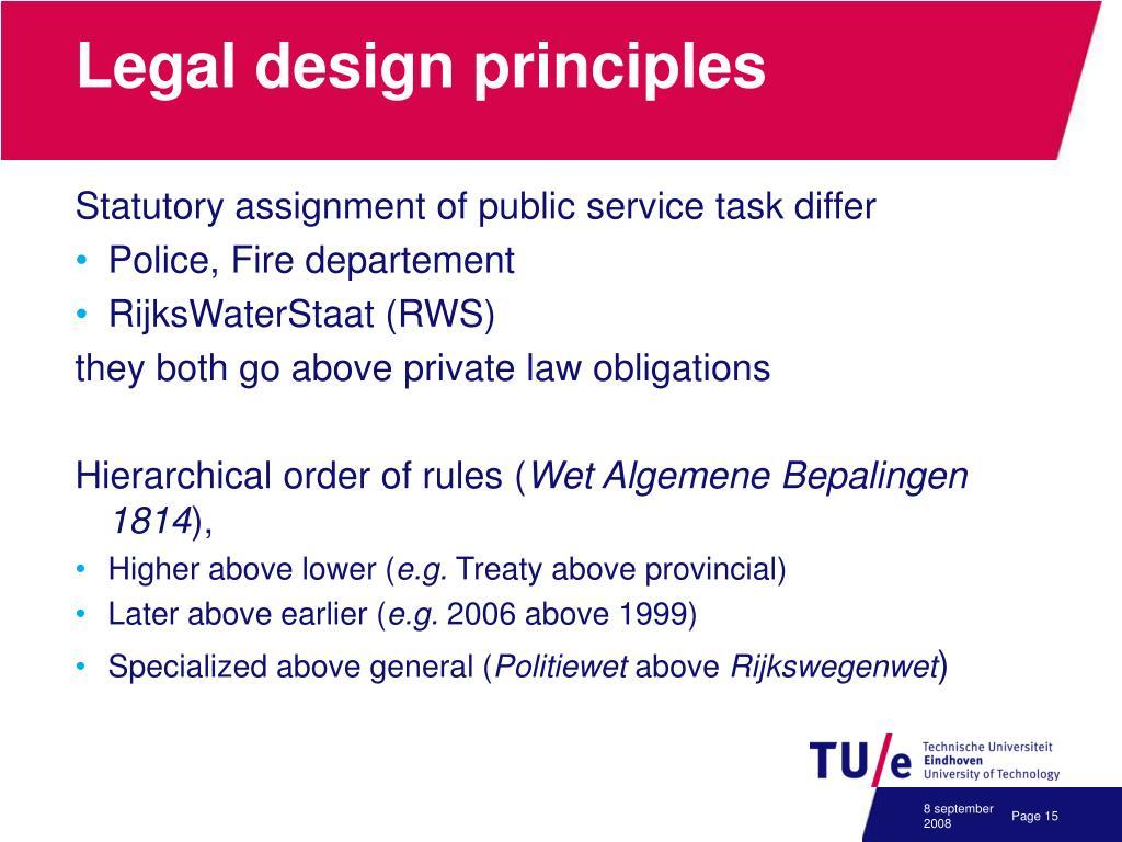 Legal design principles