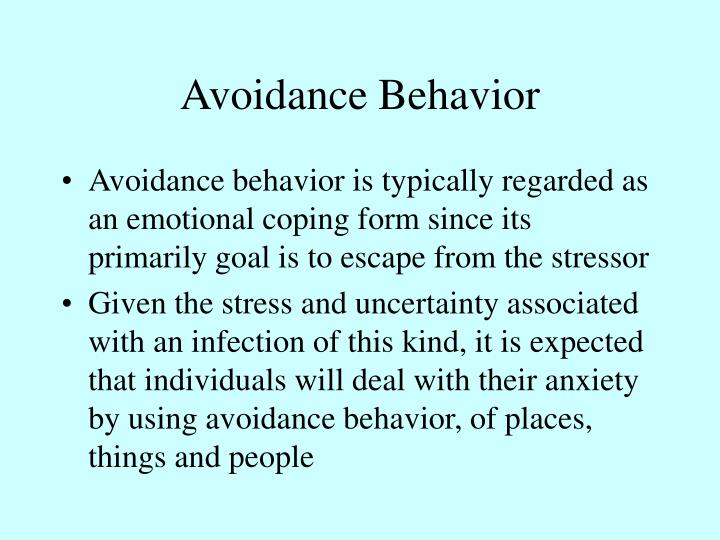 Avoidance Behavior