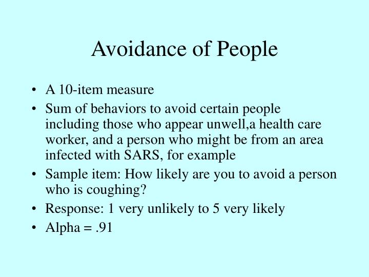 Avoidance of People