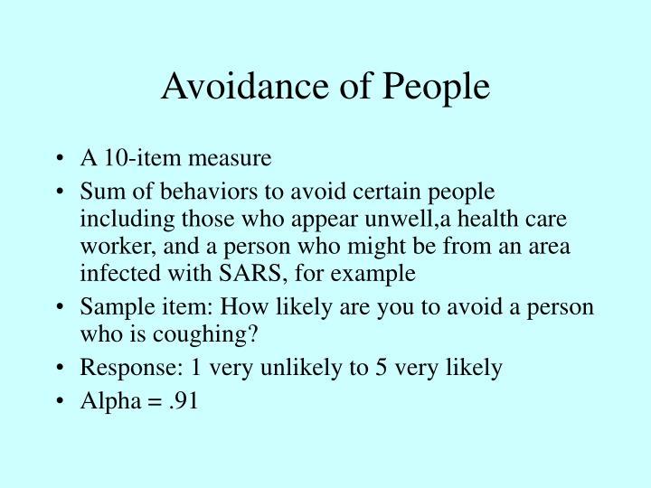 Avoidance of People