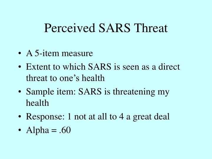 Perceived SARS Threat