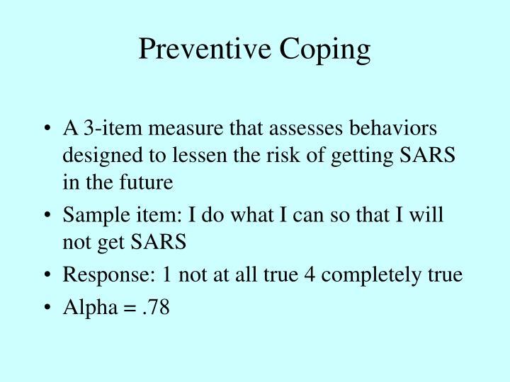 Preventive Coping