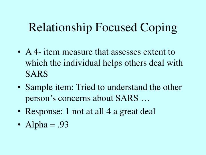 Relationship Focused Coping
