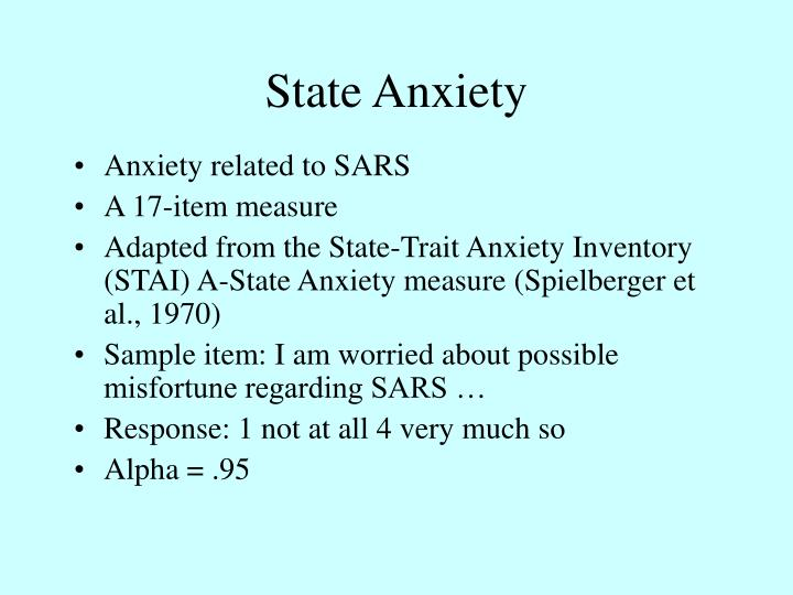State Anxiety