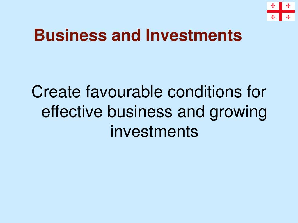 Business and Investments