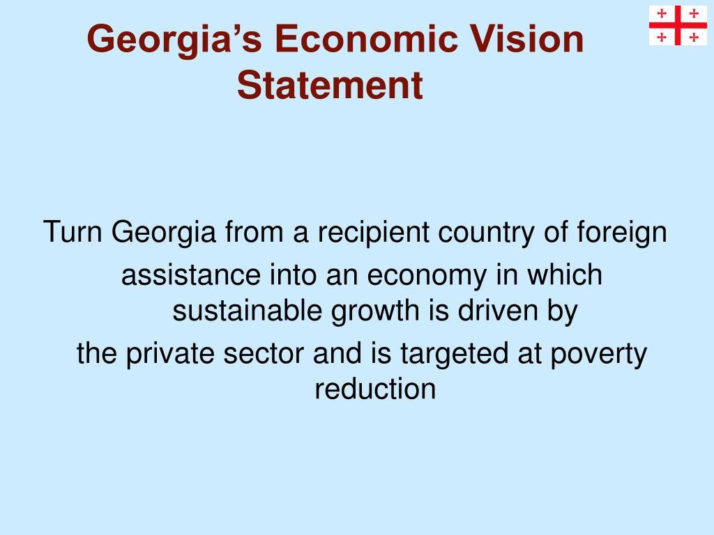 Georgia's Economic Vision Statement