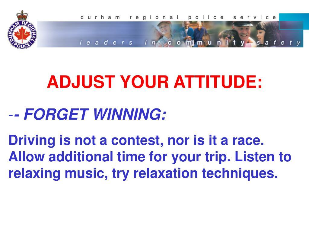 ADJUST YOUR ATTITUDE: