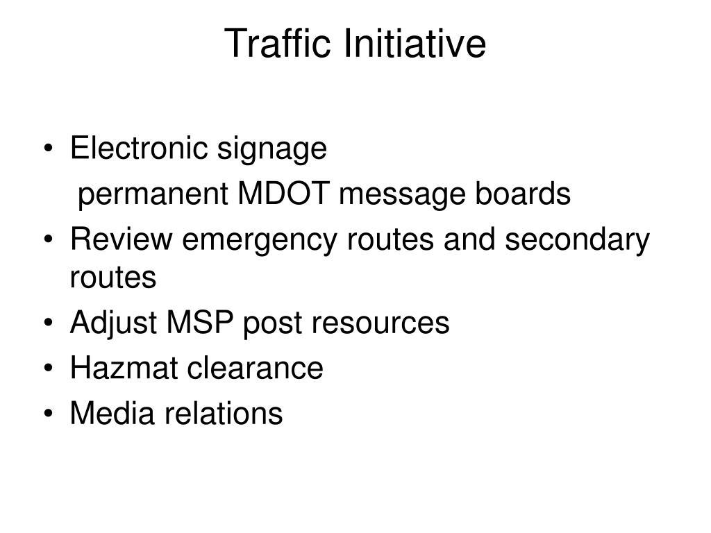 Traffic Initiative