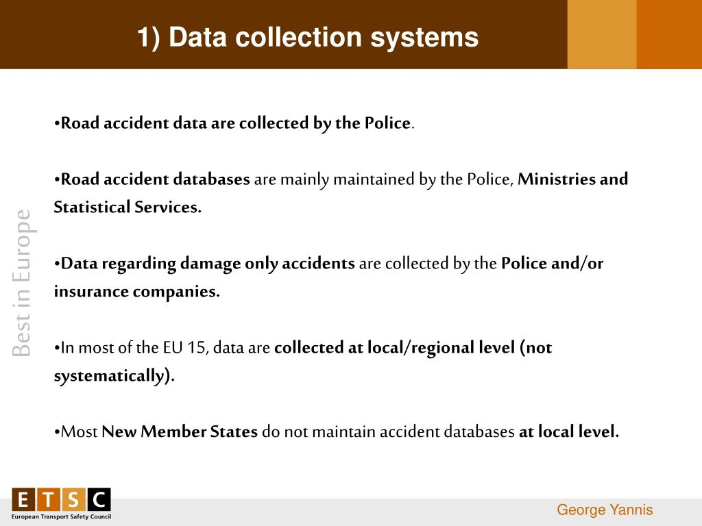 1) Data collection systems
