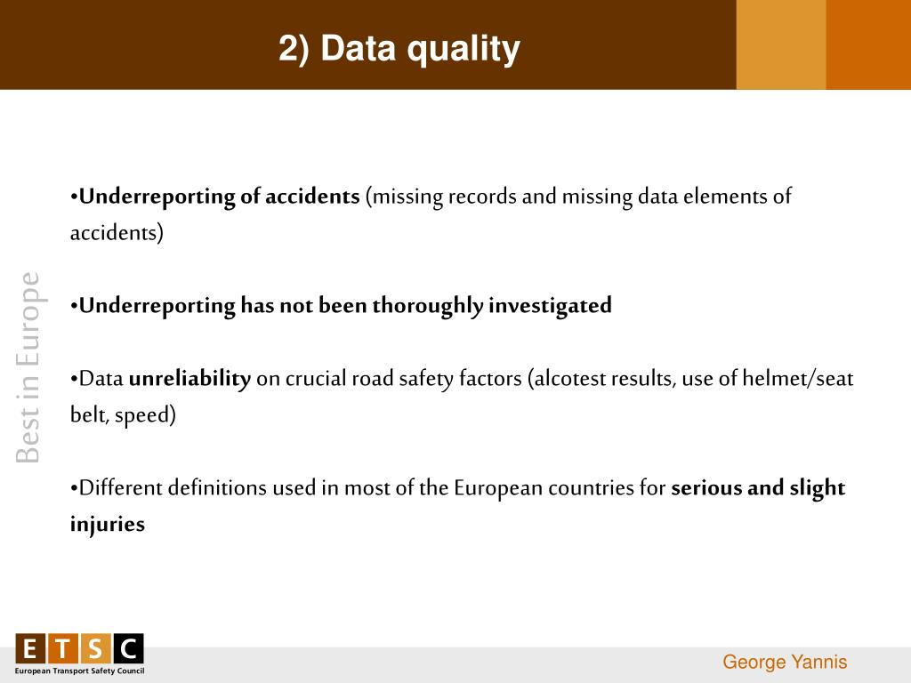 2) Data quality
