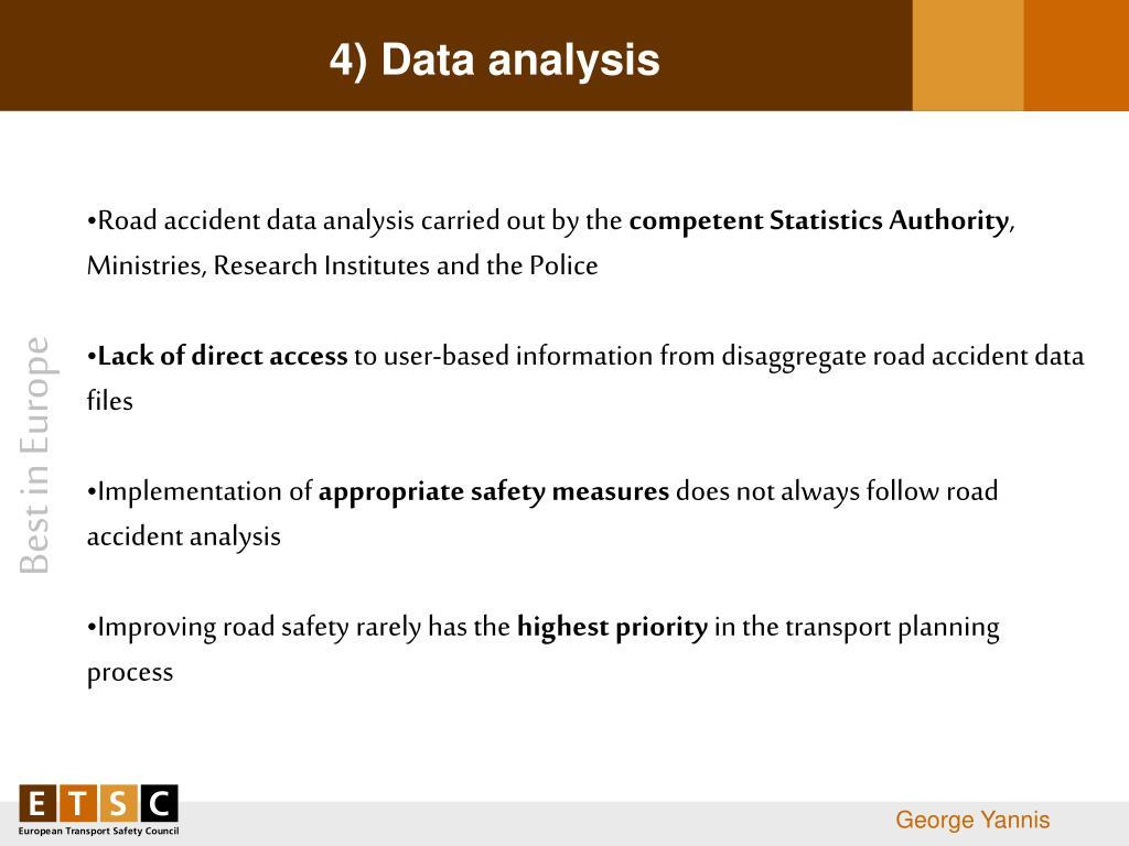 4) Data analysis