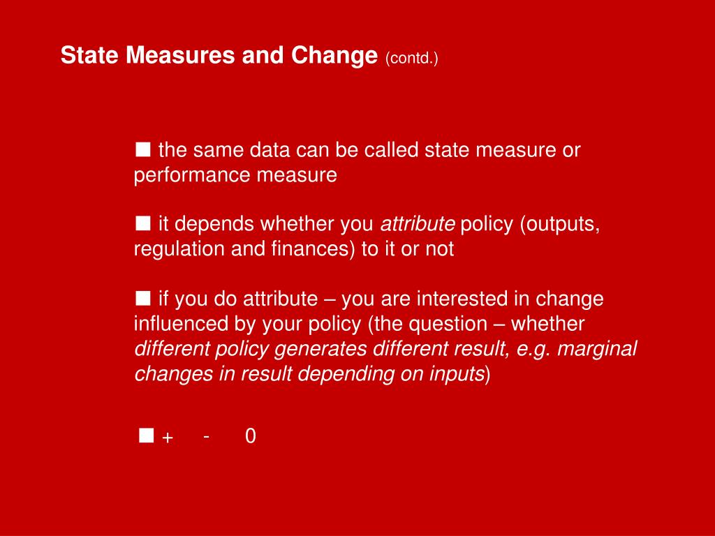State Measures and Change
