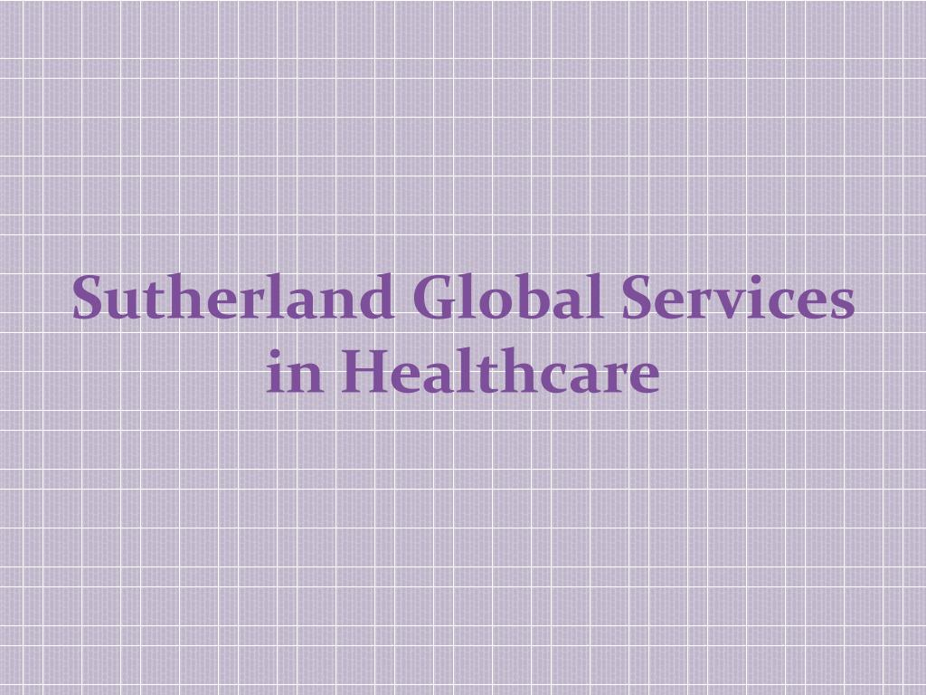 Sutherland Global Services in Healthcare