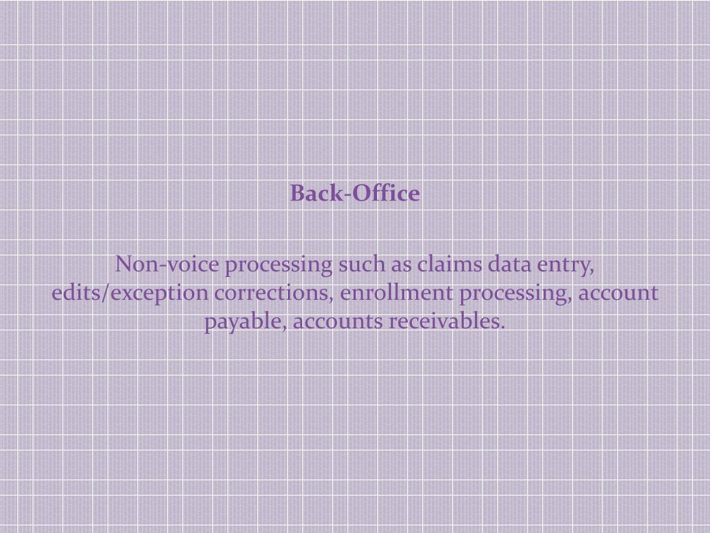 Back-Office