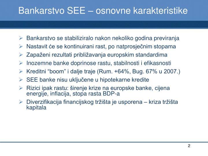 Bankarstvo SEE – osnov