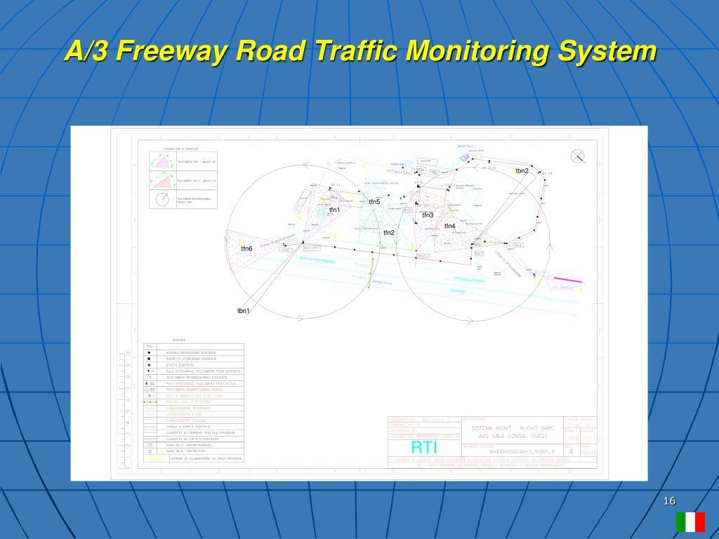 A/3 Freeway Road Traffic Monitoring System