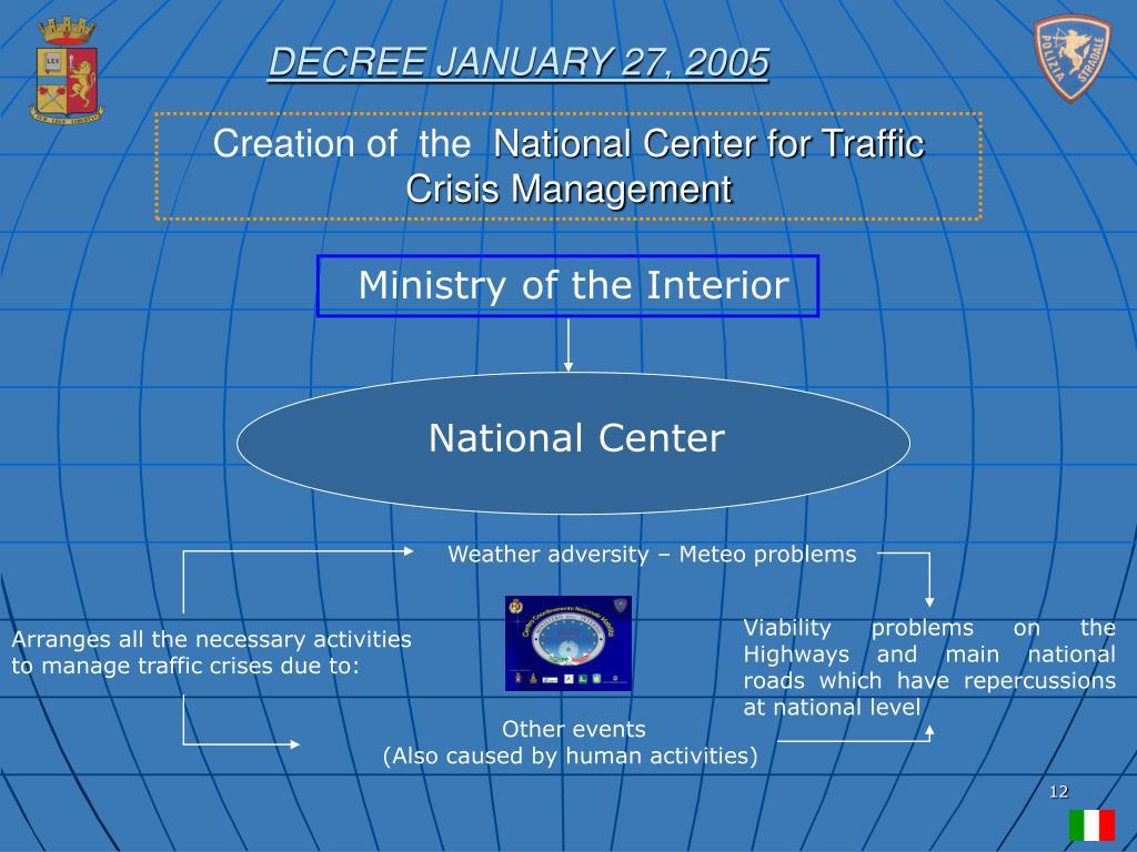 DECREE JANUARY 27, 2005