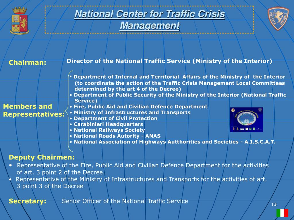 National Center for Traffic Crisis Management