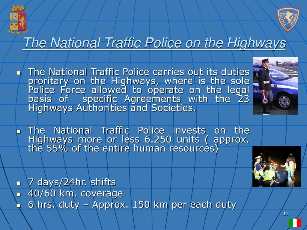 The National Traffic Police on the Highways