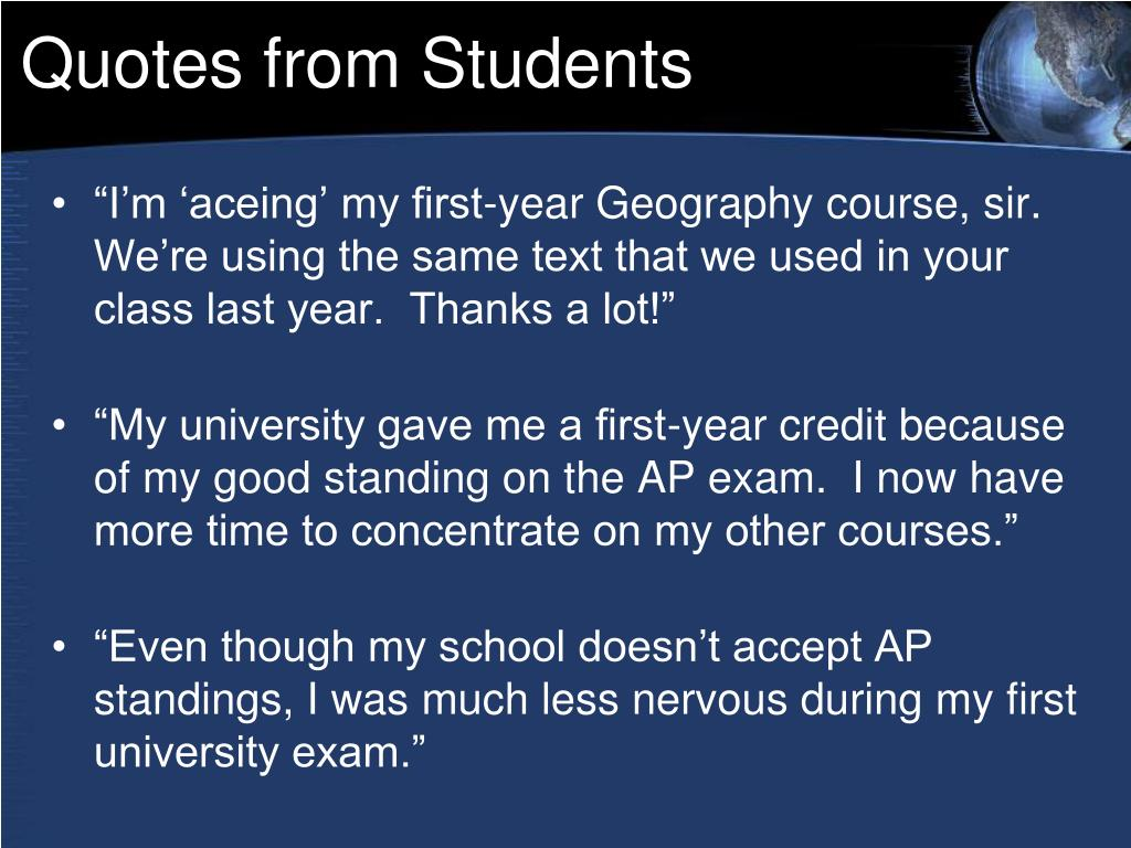 Quotes from Students