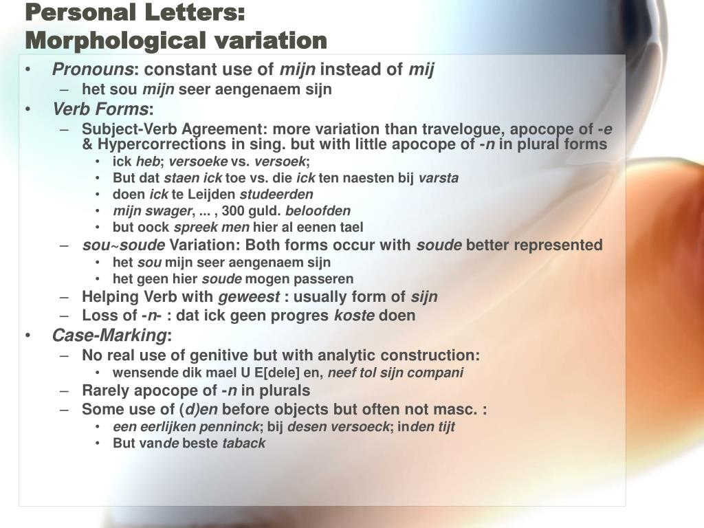 Personal Letters: