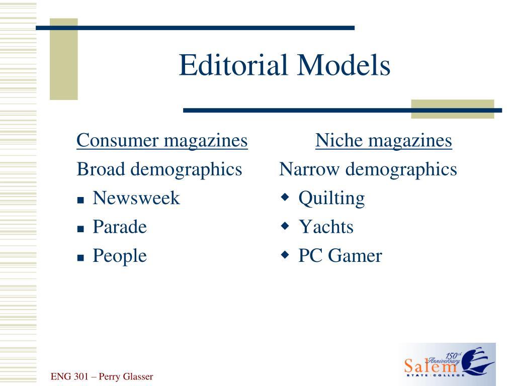 Consumer magazines