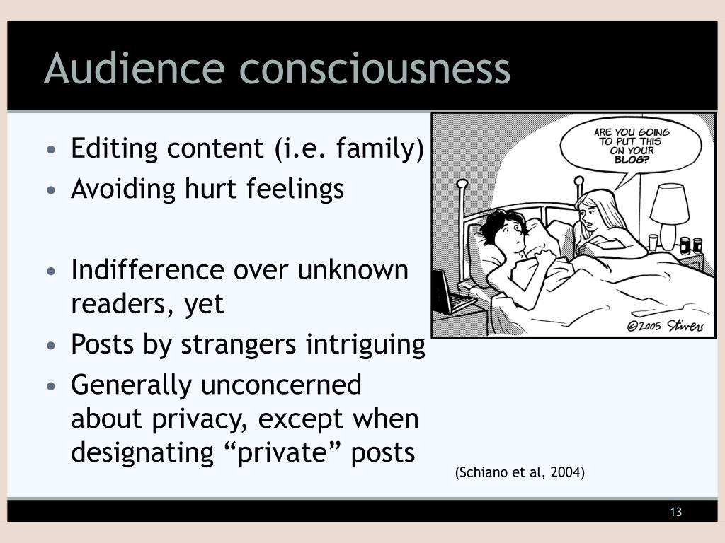 Audience consciousness
