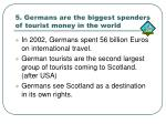 5 germans are the biggest spenders of tourist money in the world
