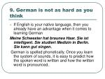 9 german is not as hard as you think