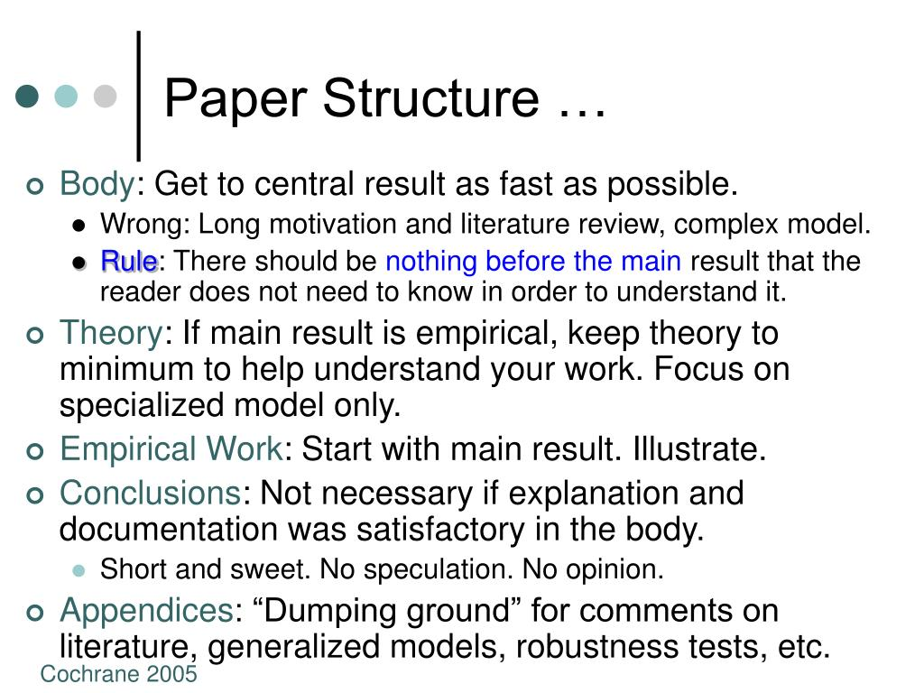 Paper Structure …