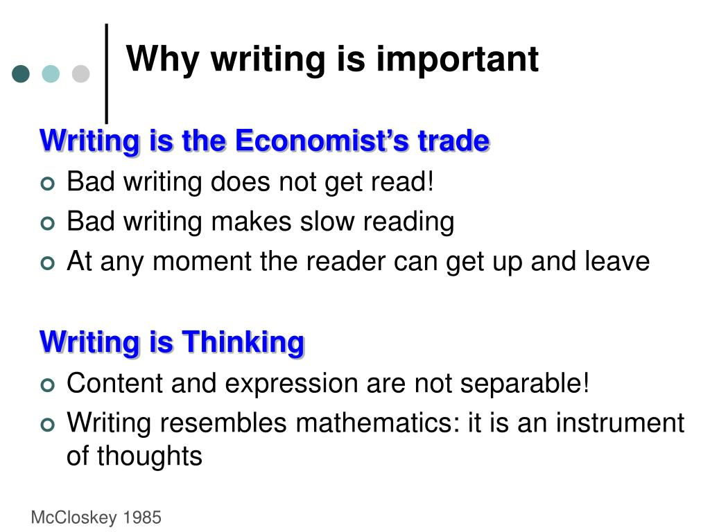 Why writing is important