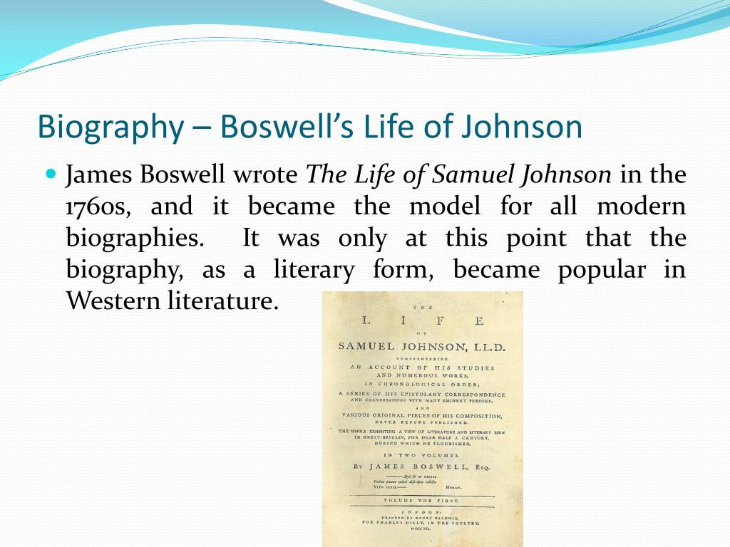 Biography – Boswell's Life of Johnson