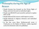 philosophy during the age of reason
