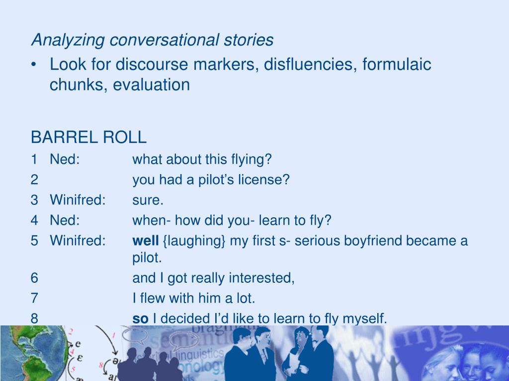 Analyzing conversational stories
