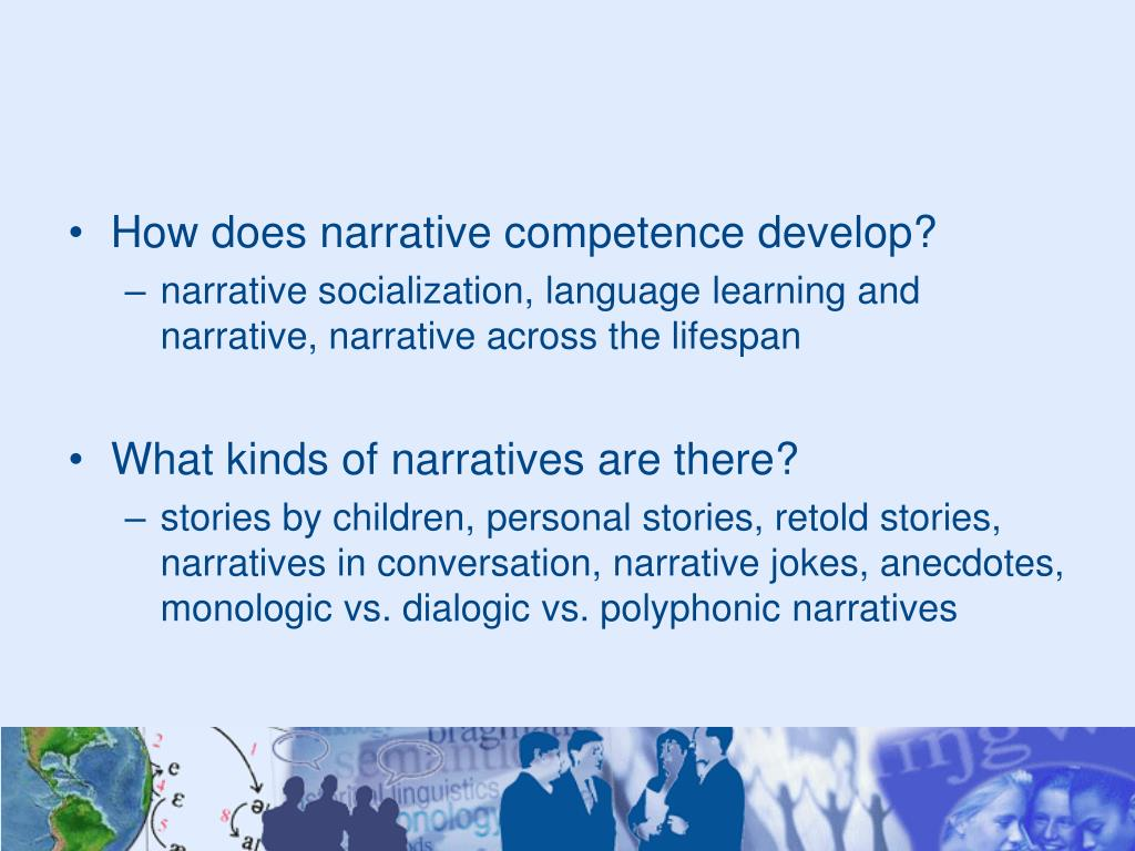 How does narrative competence develop?